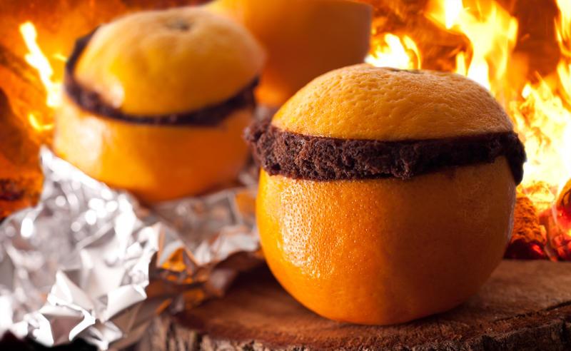 Baking Cake in an Orange Peel