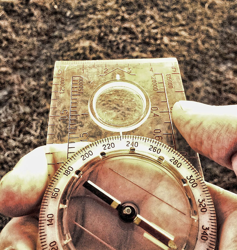 Compass in Hand (closeup)