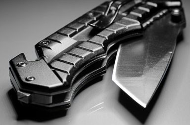 Folding Survival Knife (closeup)