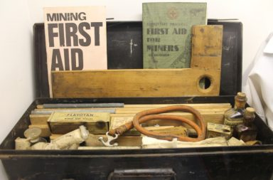 Old school survival first aid kit for miners