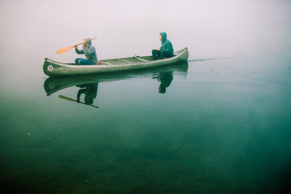 Two Guys in a Canoe