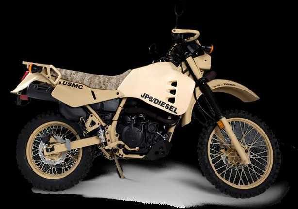 HDT Kawasaki JP8/Diesel Military Motorbike