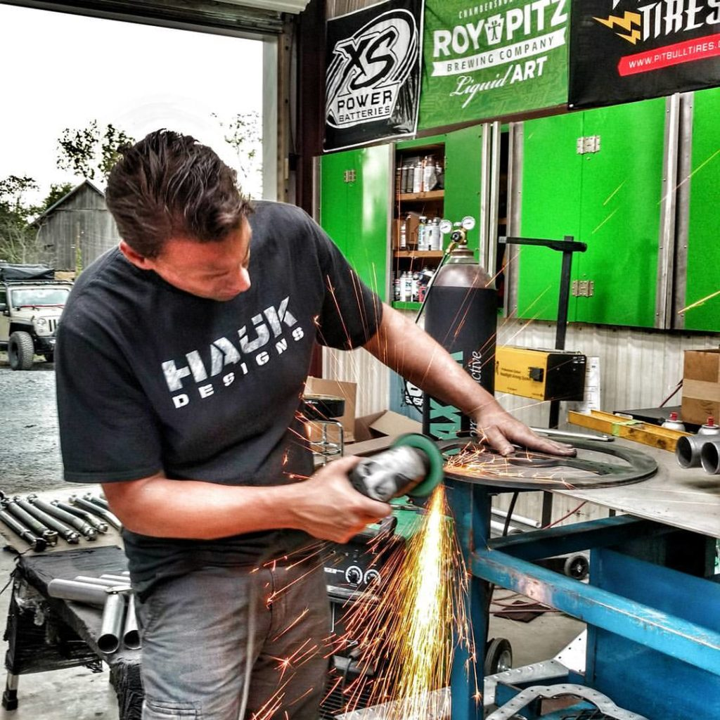 Kenny Hauk (from Hauk Designs) in the Workshop