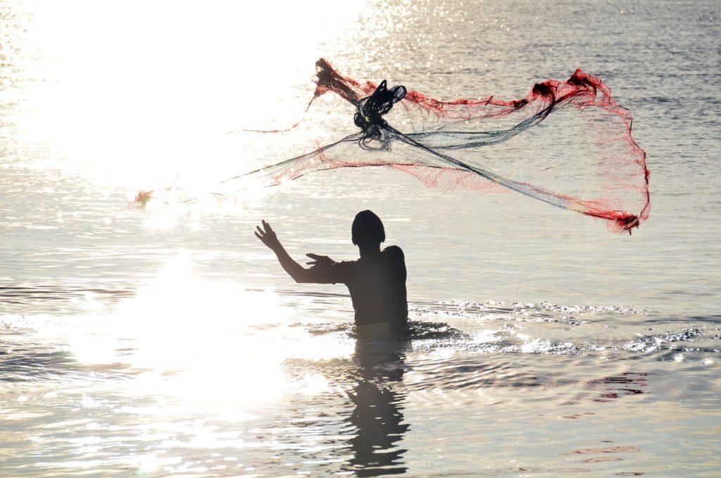 Net Fishing in Sri Lanka