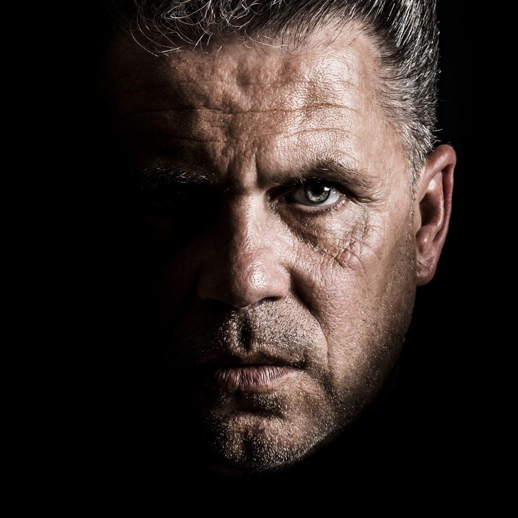 Stern/serious Man (closeup)